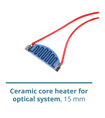 Ceramic core heater for optical system
